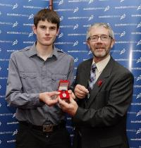 Robbie Simpson receives Eddie Campbell Award 2009